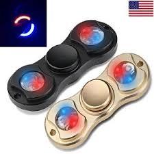 a light up fidget spinner led black gold edc hand finger fidget spinner toy light up figit for