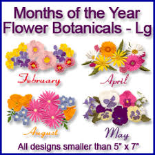 flower of the month machine embroidery designs at embroidery library embroidery library