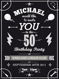 50th birthday invitations templates invitations templates