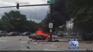lamborghini crashes into light pole bursts into flames near grant