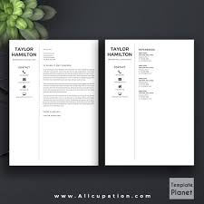 Best Resume References by Creative Resume Template Cover Letter 1 2 3 Page Template Cv