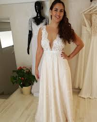 Wedding Dress For Curvy Fcc2 Deep V Neck Wedding Gowns For Curvy Plus Size Brides