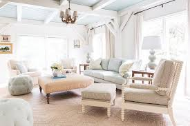 White Beadboard Ceiling by Ivory And Blue Living Room With Blue Beadboard Ceiling Cottage