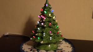 ceramic christmas tree ceramic christmas tree with color changing lights 4 steps with