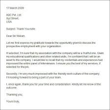 42 thank you note examplesthank you letter after interview