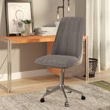 linen desk chair trent design sutter creek linen desk chair reviews wayfair