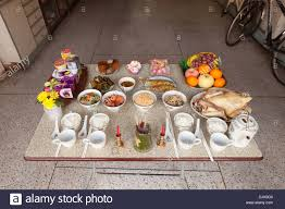 food offerings for chinese new year stock photo royalty free