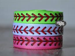 softball ribbon 5 yards 3 8 baseball softball laces print grosgrain ribbon