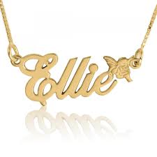 Gold Plated Name Necklace Angel Name Necklace 24k Gold Plated Namefactory