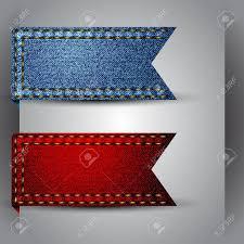 ribbon fabric vector made of jean fabric ribbon royalty free cliparts vectors