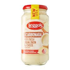 leggo u0027s carbonara creamy pasta sauce 490g from redmart