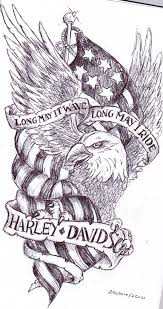 Eagle And Flag Tattoos Long May It Wave Long May I Ride Banners And Eagle With Us Flag