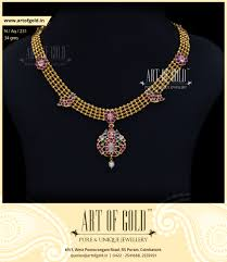 antique necklace images Light weight antique necklace art of gold jewellery coimbatore jpg