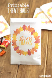printable thanksgiving treat bags craftinge e