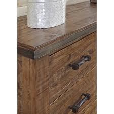 Contemporary Rustic Wood Furniture Modern Rustic Solid Wood Five Drawer Chest With Metal Legs And