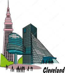 Cleveland Map Cleveland On Ohio Map Clipart Collection