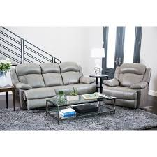 Leather Reclining Sofa Abbyson Clarence Top Grain Leather Reclining 2 Piece Living Room