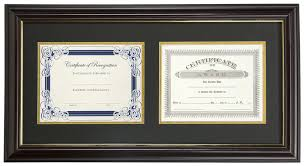 document frame dual vertical diploma frame 2 8 5 x 11 certificates