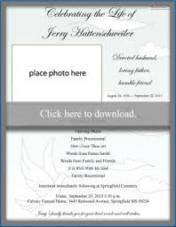 Funeral Ceremony Program Free Funeral Program Templates