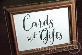 wedding gift table sign cards and gifts table sign wedding table reception seating