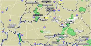 kentucky map map of kentucky waterfalls