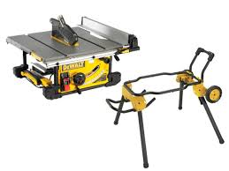 dewalt dwe7491ldwe74911 110v 250mm table saw and rolling leg stand