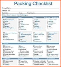 packing list template template billybullock us