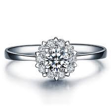 verlobungsringe gold diamant blumen diamant ring weißgold 585 14kt verlobungsringe gold