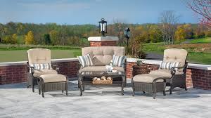 lake como deep seating wicker patio furniture set khaki tan 6