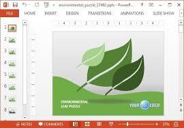 animasi lingkungan powerpoint template