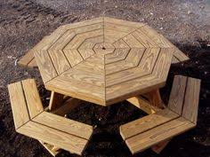 Picnic Table Plans Free Separate Benches by Furniture Hexagon Table Picnic Table Plans With Separate Benches