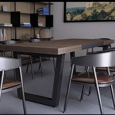 Ikea Boardroom Table Yong Iron Furniture Modern Fashion Nordic Ikea Wood Conference