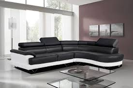 Leather Corner Sofa Beds by Black And White Bonded Leather Corner Sofa With Right Hand Eva