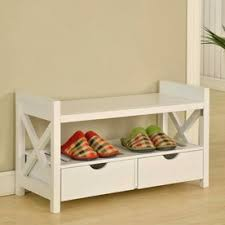 White Storage Bench Shop Indoor Benches At Lowes