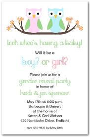 baby shower owls owl gender reveal baby shower invitations