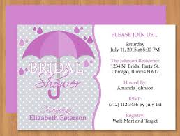 words for bridal shower invitation purple umbrella bridal shower invitation editable template