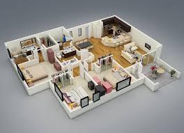 one floor house plan houses type 45 one floor 3 bedrooms house design ideas