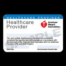 bls for hcp course completion card