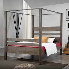 Twin Size Canopy Bed Frame Amazon Com Metro Shop Marion Charcoal Grey Queen Canopy Bed