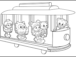 daniel tiger coloring pages birthday party pbs and pbs kids