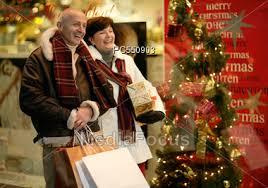 stock photo senior couple christmas shopping image pc550903