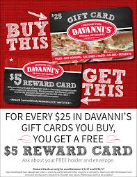 holiday rewards program 2016 davanni u0027s pizza u0026 hoagies