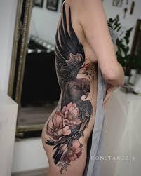 tattoo eagle girl girls side tattoo tattoo ideas