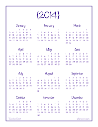 printable calendar yearly 2014 2014 year at a glance printable calendar printable calendar
