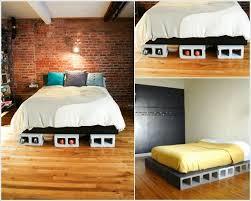 Concrete Block Bed Frame Diy Concrete Block Bedframe Footprints Mattress And Construction