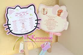 hello kitty invitations for christening hello kitty invites