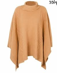 orange sweater womens s camel knitted turtleneck poncho sweater cape saliceshop