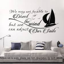 adjust our sails motivational quote vinyl wall art stickers adjust our sails motivational quote vinyl wall art stickers nursery decals decor