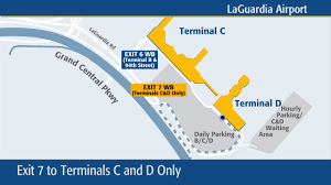 New York Lga Airport Map by New Traffic Pattern On Grand Central Parkway Exits To Laguardia