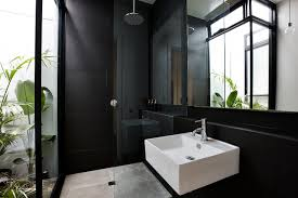 black bathrooms windsor contemporary bathroom melbourne by daniel ash architects
